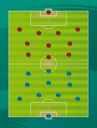 Soccer team tactics field