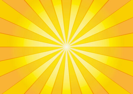 Orange sunburst background