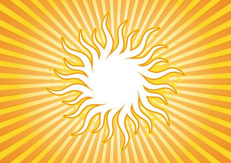 Retro sun burst background