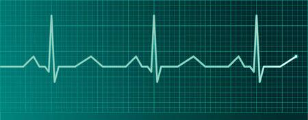 Heart pulse monitor Illustration