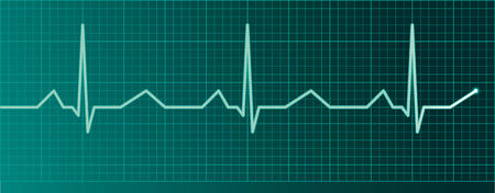 Heart pulse monitor Illustration