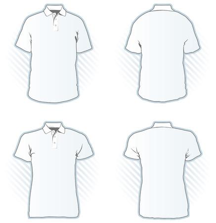 Conjunto de plantillas de diseño de camisa Polo - vistazo a la cartera para otros conjuntos