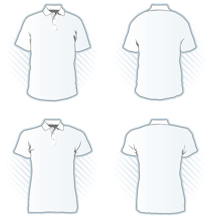 Polo shirt design template set  - look at portfolio for other sets  Illustration