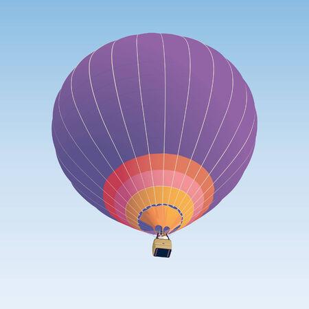 Hot air balloon illustration on blue background  Vector