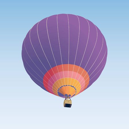 Hot air balloon illustration on blue background  Illustration
