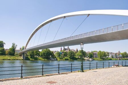 Modern High bridge over the river Meuse in Maastricht, The Netherlands