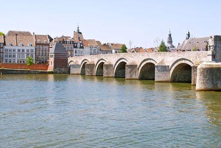 Medieval St. Servatius bridge. Maastricht, The Netherlands