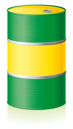 toxic barrels: Barril de petr�leo aislado sobre fondo blanco  Vectores