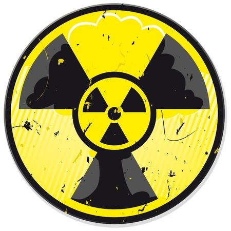 Signo de energía nuclear de grunge