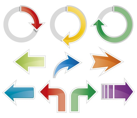 Set of colorful arrow symbols