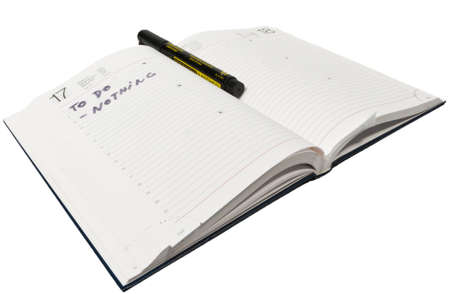 slacker: An agenda with nothing to do written on it