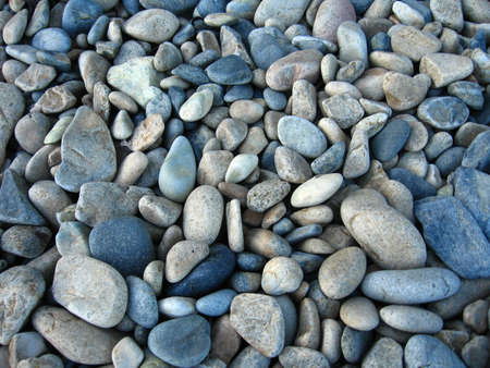 smooth stones: Ocean turned smooth stones