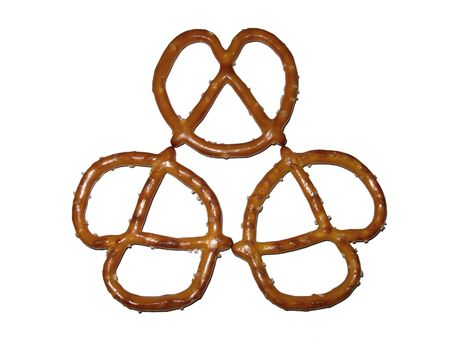 pretzel: Pretzel pattern on white