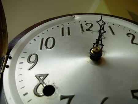 Antique Clock Face close-up Banco de Imagens
