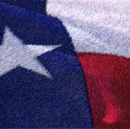 텍사스 주 깃발, 사진 기반 혼합 미디어 이미지