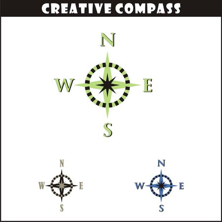 Creative  Compass Vector Art