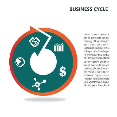 Infographic for business on white background Illustration