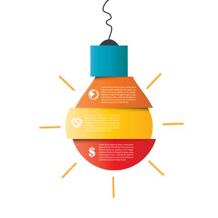 Illustration bulb of Infographic Design on white background Illustration