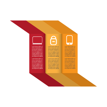 Blockchain Inforgaphic on white background with text template