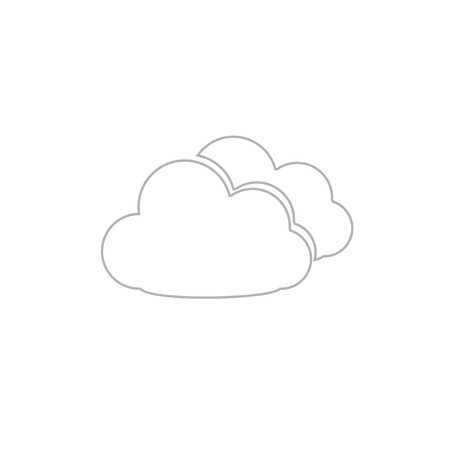 Cloud Icon Isolated Design.