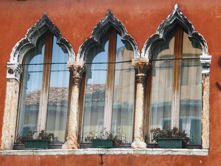 murano: Italy,Murano, 01 March  2011 - Venetian window