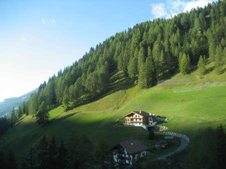 sud tirol: Italy, Sud Tirol, 02102011 - A small village of Sud Tirol