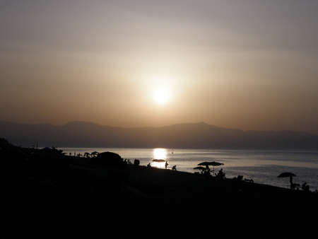 calabria: Italy, Calabria, 08 August 2008 - Sunset Stock Photo