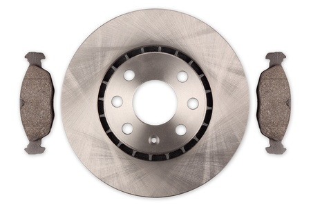 car brake disc with pads