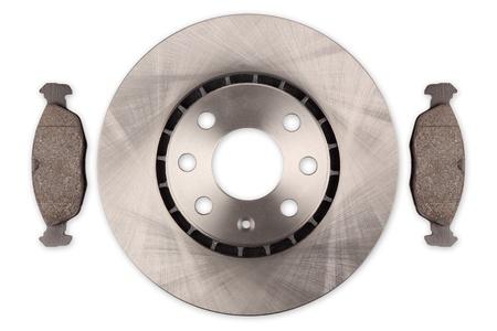 brake disc: car brake disc with pads