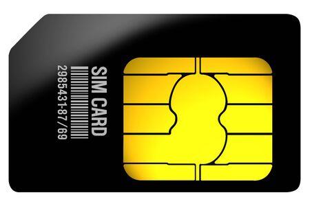 black sim card illustration