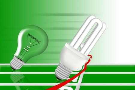 sustainably: energy bulb wins the race against lightning bulb