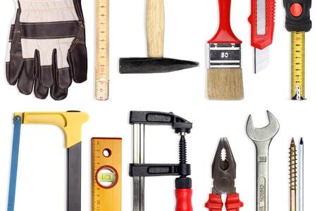 Eine Reihe von viel verschiedene Tools und Arbeitsmaterialien