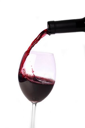 redwine: pour redwine from bottle into glass