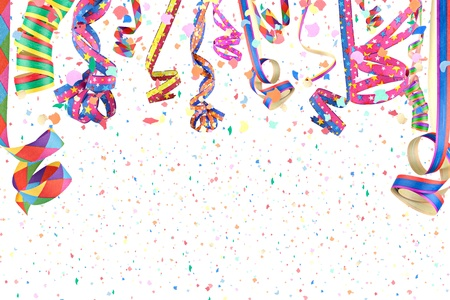 carnaval: wimpels in een regen van confetti