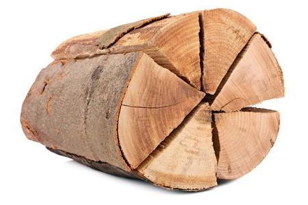 firewood composing a tree bark photo
