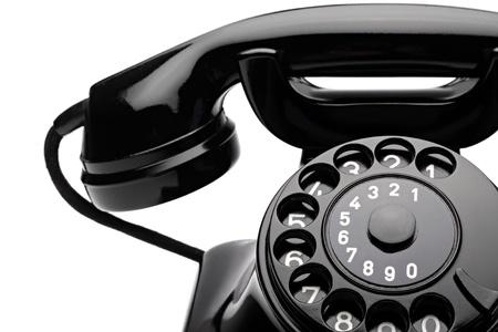 rotary dial telephone: un viejo asesoramiento con dial rotatorio Foto de archivo