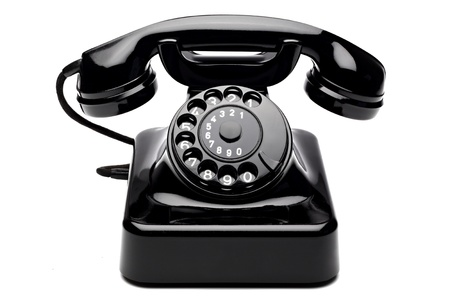 rotary dial telephone: an old telephon with rotary dial Stock Photo