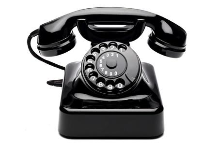 Ein altes Telefon mit Wählscheibe Standard-Bild - 10061313