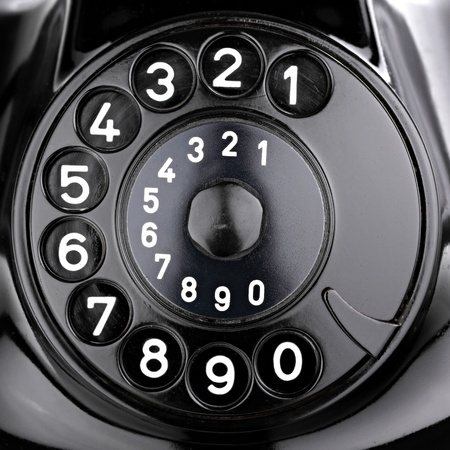 rotary dial of an old phone. Stock Photo - 10061437