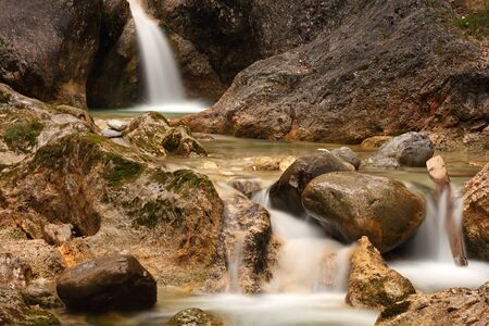 streamlet: waterfall in a bavarian alpine brook Stock Photo
