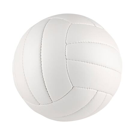a white volleyball on white background photo
