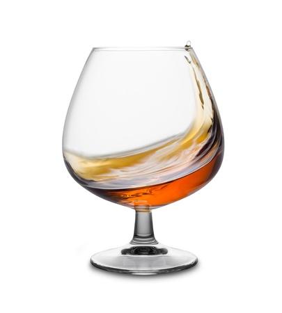 hard liquor: a glass of cognac