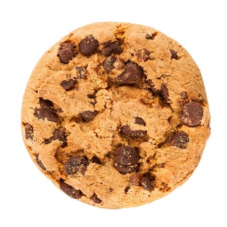 galleta de chocolate: galleta de chocolate delante de fondo blanco