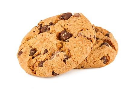 galleta de chocolate: galletas de chocolate delante de fondo blanco