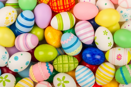 coloful: many coloful easter eggs