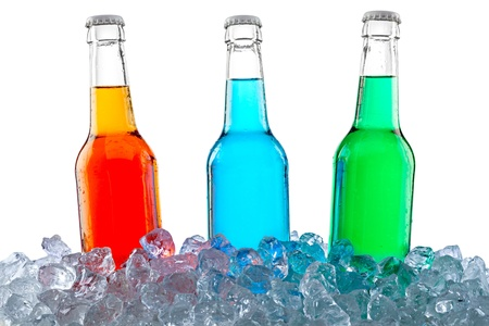 three bottles in crushed ice Stock Photo - 19322026