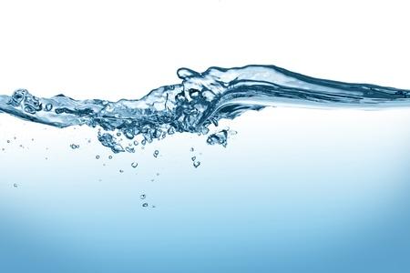 a splash wave isolated on white background Stock Photo - 19321873