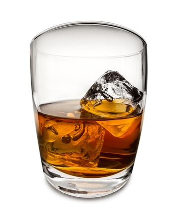 whiskey with ice cubes Stock Photo - 19321879