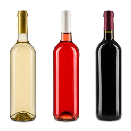 bouteille de vin: ensemble de bouteilles de vin Banque d'images