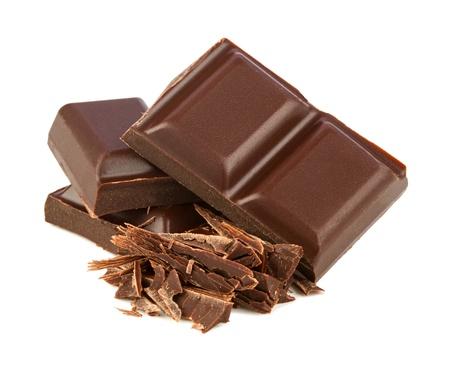 pila de chocolate negro